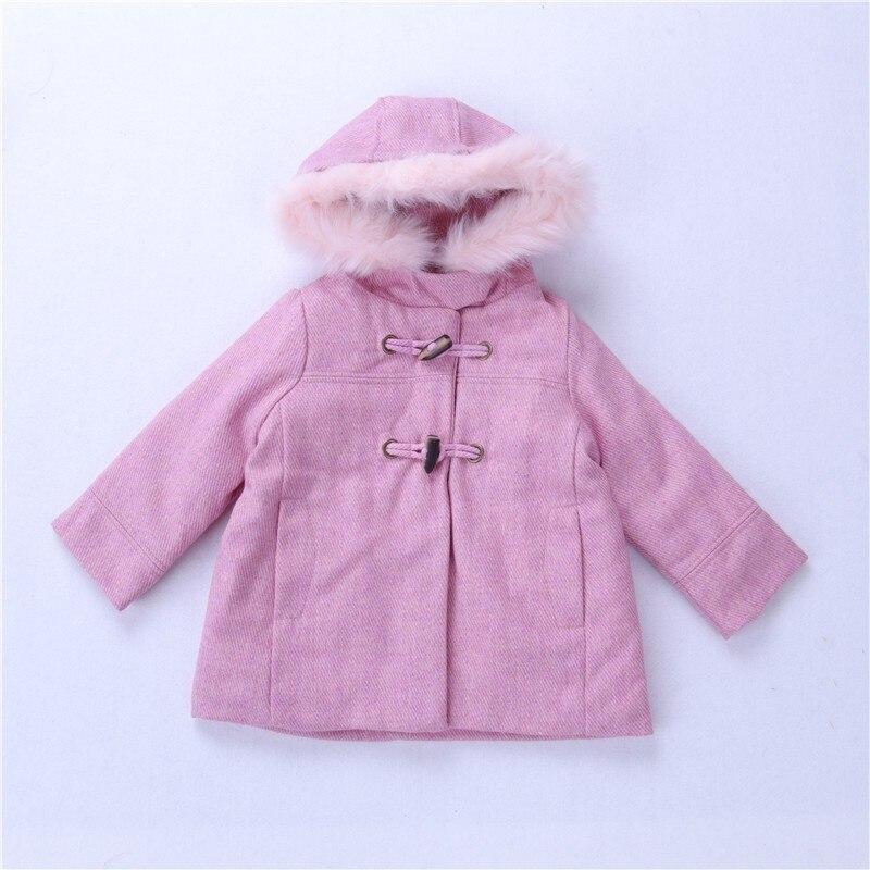 Y automne fille veste laine rose fourrure à capuchon enfants veste pour fille manteau bébé Survêtement Enfants outfit Filles Vêtements