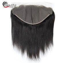 Красивые queen индийские шнурка человеческих волос фронтальной 13x6 прямо 130% плотность предварительно вырезанные Волосы remy часть натуральный Цвет