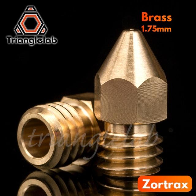 trianglelab Super high quality Zortrax Brass Nozzle for Hotend Kit Zortrax M200 M300 3D printer 1.75MM Screw thread M6 EXtruder