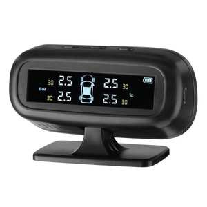 TPMS Car Tire Pressure Alarm Monitor System External/Internal with 4 Sensors Temperature