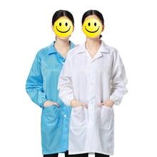 7572bfa9fbea6 Iş Elbiseleri Antistatik Temiz Anti-Statik Elbise Toz geçirmez Emek Koruma  Giyim için Gıda Dükkanı Tıbbi Püskürtme Işçiler