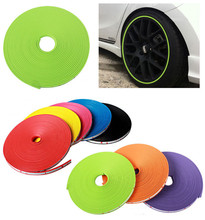 8 Meters Car Styling Decoration Auto Accessories Car Wheel Protector Rim Cover Ring Tire Glue Sticker For Car Wheel