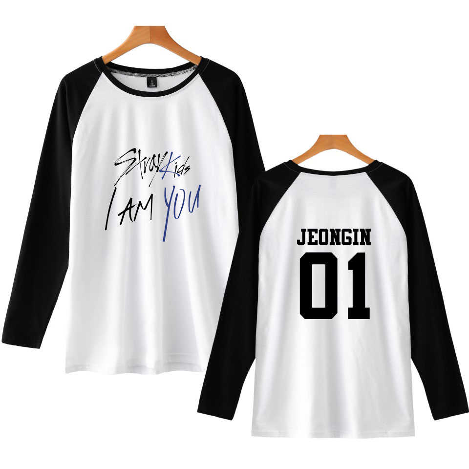 db4b86339 Detail Feedback Questions about LUCKYFRIDAYF 2018 Stray Kids I Am You  Member New Print Pop Raglan T Shirts Long Sleeve Kpop T shirt Women/Men T  shirt Women ...