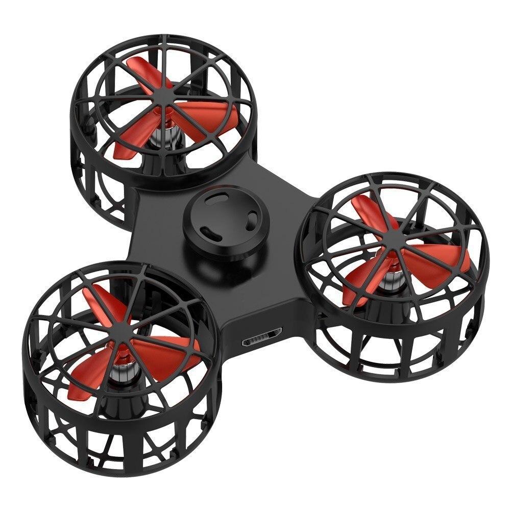 Dropshipping 1 stück Hohe qualität Tiny Spielzeug Drone Fliegen Fidget Spinner Stress Relief Geschenk Fliegen USB lade Gyroscop Spielzeug