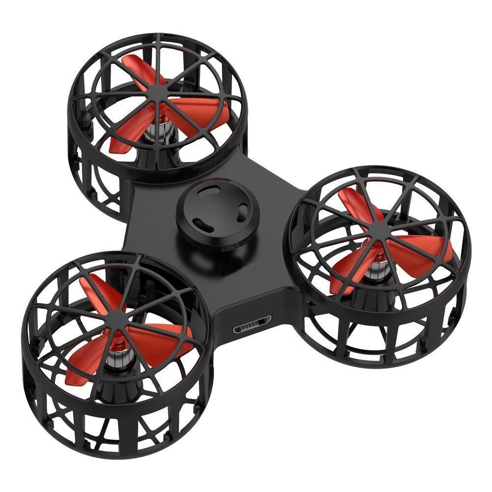 Livraison directe 1pc haute qualité petit jouet Drone volant Fidget Spinner Stress soulagement cadeau volant USB charge Gyroscop jouet