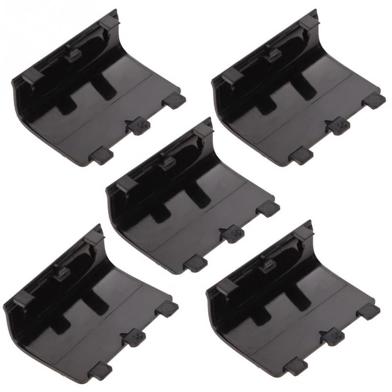 5 PCS Black Gamepad Battery Cover Lid Shell Replacement ABS Battery Cover Door Back Covers For XBOX One Wireless Controller#1031