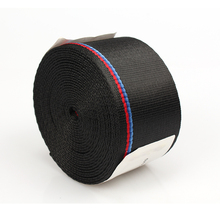 3.8m Car Seat Belt Auto Safety Webbing Racing Harness Ribbon Blue Red Wholesale For BMW