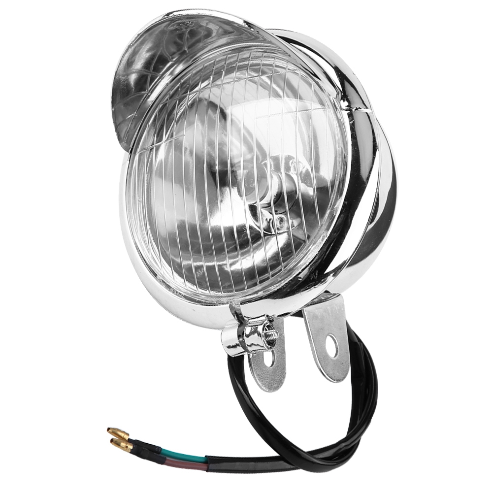Lamp Moto Headlight Retro Universal DC White 12V Working title=