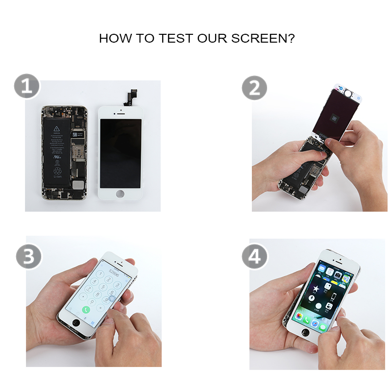 Image 5 - Full Set LCD Display for iPhone 5 5C 5S 5G LCD Screen Touch Digitizer Full Assembly LCD Replacement Pantalla+Home Button+Camera-in Mobile Phone LCD Screens from Cellphones & Telecommunications