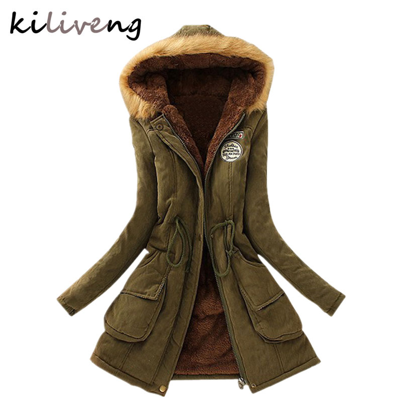 2019 New Parkas Female Women Winter Coat Thickening Cotton Winter Jacket Womens Outwear Parkas for Women Winter K001