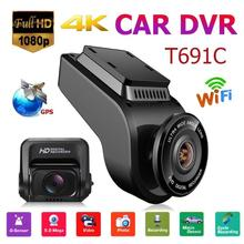 """Vodool T691C Mini 2 """"4 K 2160 P/1080 P Fhd Auto Dvr Dash Cam Camera 170 Graden lens Auto Video Recorder Wifi Gps Nachtzicht Dashcam"""