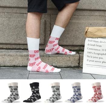 "/""FALL IN LOVE/"" Letter Harajuku Ankle Socks Women Funny Warm Street White Socks"