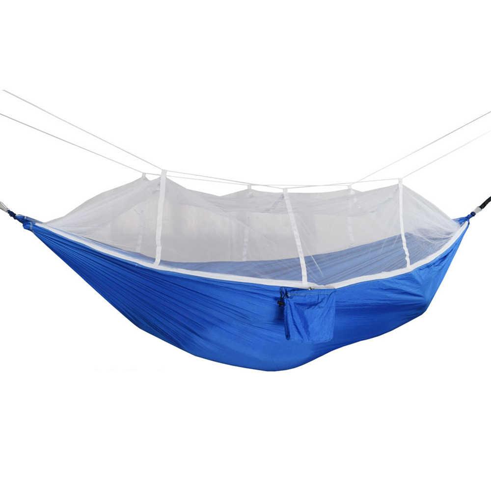 Портативный гамак уличный рюкзак выживания сна палатка путешествия легкий нейлон парашют с москитной сеткой