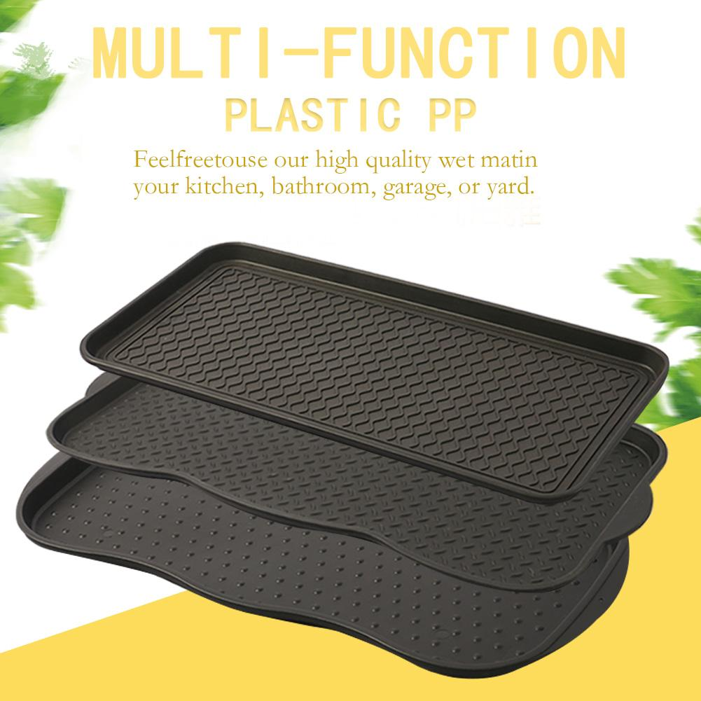 1Pcs Plastic Boot Mat Tray Shoes Plate Multi-Purpose Tray Pad For Plant Pet Eco-Friendly Portable Home Storage Sundries Trays