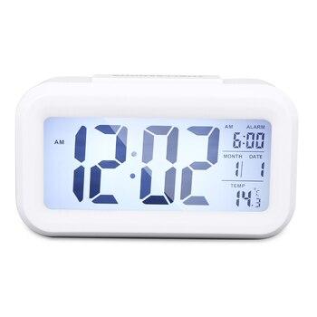 HTC  -  2液晶デジタル温度計湿度計屋内屋外電子温度湿度計目覚まし時計天気ステーションデジタル時計