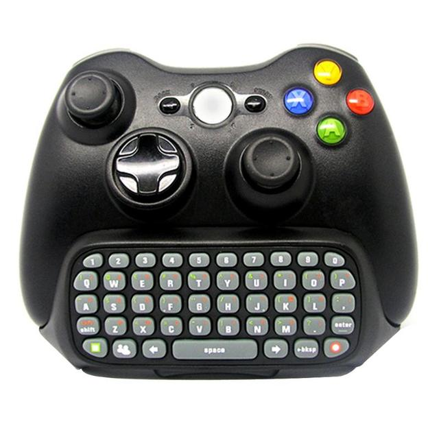Nirkabel Game Keyboard Chatpad untuk Controller Mini Gamepad Chating Pesan Cetak Key Papan Pad untuk Xbox 360 Controller