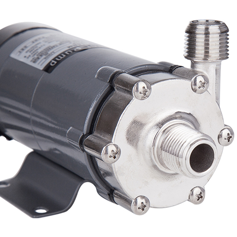 Pompe d'entraînement magnétique de prise de l'ue 15R avec la tête 304 d'acier inoxydable, brassage de bière, prise européenne 220V avec le fil 1/2Npt - 4