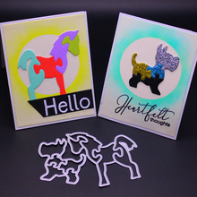 YINISE 068 HORSE DOG SCRAPBOOK Metal Cutting Dies For Scrapbooking Stencils DIY Album Cards Decoration Embossing Folder Die Cuts yinise 068 horse dog scrapbook metal cutting dies for scrapbooking stencils diy album cards decoration embossing folder die cuts