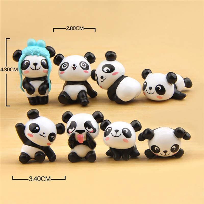 Image 5 - 8PCS Playful Version Cartoon Panda Cake Decoration Creative Wild Garden Micro Landscape Cute Doll Party Cake Decoration-in Cake Decorating Supplies from Home & Garden