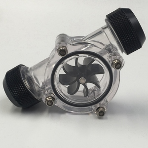 Image 3 - G1/4 Inch Flow Indicator,Clear Main Body,Black Blade,Matte Black Pc Computer Water Cooling System Flow Meter Indicator