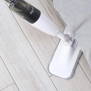 Image 5 - Original Deerma eau pulvérisation balayeuse Mijia nettoyant pour sol en Fiber de carbone poussière vadrouilles 360 tige rotative 350ml réservoir épilation vadrouille