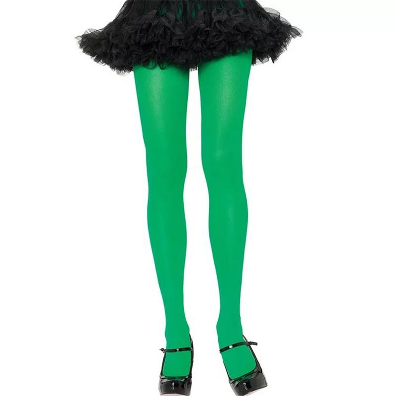 Hot Classic Sexy Women Striped Green Pantyhose Tights Thick Stockings Fashion