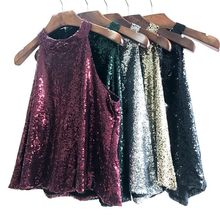 MUXU New red glitter sequin top women fashion woman clothes Strapless Sexy Paillette Halter  ladies tops streetwear 2019