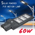 1 PC All-in-one 60 W Movido A Energia Solar Controle de Luz Da Lâmpada de Iluminação Do Painel Solar + sensor de Movimento PIR sensor de Luz de Rua À Prova D' Água para Ao Ar Livre