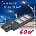 1 PC todo-en-uno de 60 W lámpara Solar Panel Solar de luz de iluminación Control + de movimiento PIR sensor impermeable al aire libre de la luz de calle