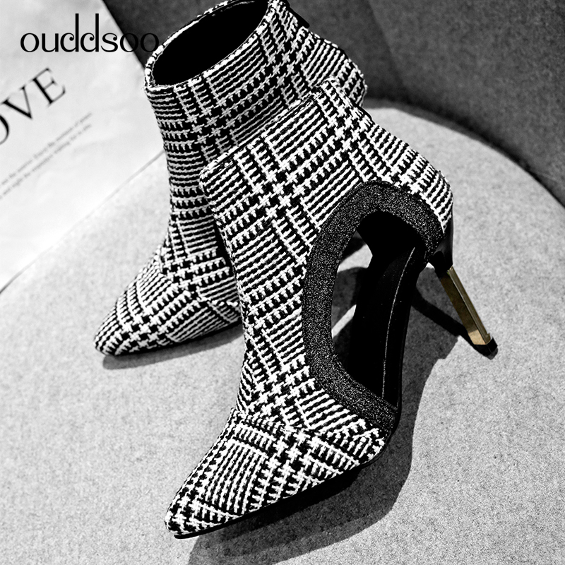 Ouddsoo Side Air Breathable Womens Hollow Out Half Mid Calf Boots For Women Shoes 9 Cm High Heel Boots Rome Style Ankle BootieOuddsoo Side Air Breathable Womens Hollow Out Half Mid Calf Boots For Women Shoes 9 Cm High Heel Boots Rome Style Ankle Bootie