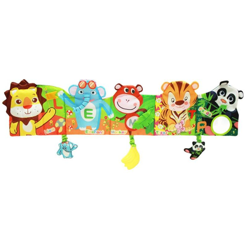Farm Cartoon Lion Cloth Book Rattle Infant Stroller Bed Crib Safety Bumpers  Baby Safety Bumpers Books