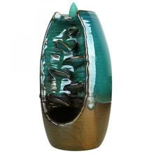 Backflow Incense Burner Ceramic Stick Holder Home Decor Smoke Waterfall Meditation Aromatherapy Censer