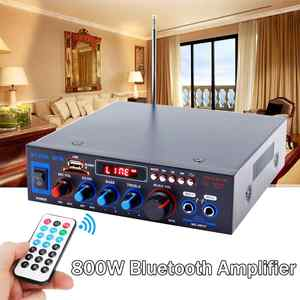 Amplifier Audio Led-Display Sd Mic Stereo Bluetooth Digital Car USB FM Home Playback