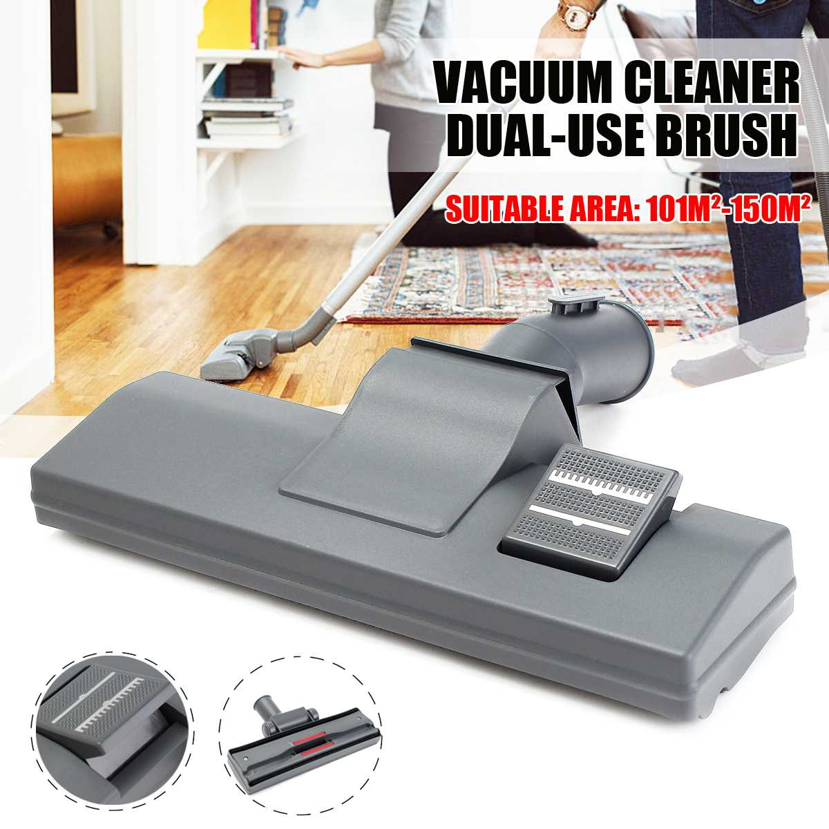 Hard Floor Brush and Rug Combo Attachment Tool for Kirby Vacuum Cleaner