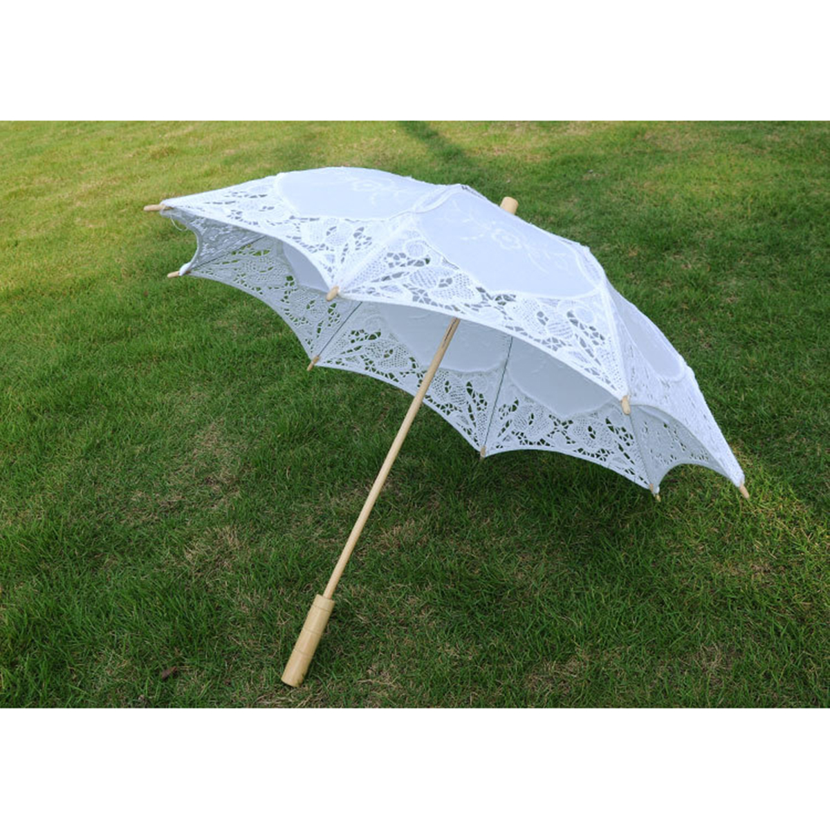 Bridal Wedding Umbrella Lace Cotton Embroidery Handmade Parasol Umbrella Parapluie Mariage S Size 38cm