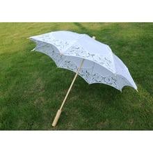Bridal Wedding Umbrella Lace Cotton Embroidery Handmade Parasol Parapluie Mariage S Size 38cm