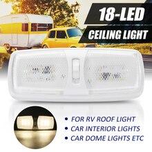 12 В 18 светодио дный автомобиль двойной светодио дный плафон интерьер потолочный светильник для Camper трейлер морской RV для T4 T5