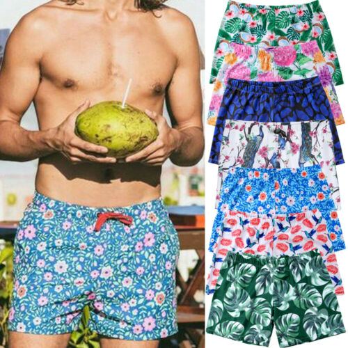 Umen Hawaiian Swim Shorts Beach Palm Floral Sports Trunks Holiday Board Shorts Swimming Cool Trunks Swim Shorts Beach Pants Pretty And Colorful Men's Clothing