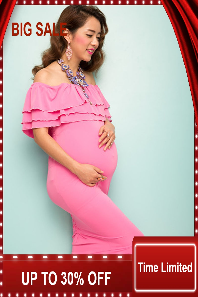 Été grande taille Maxi robes maternité vêtements Gestante photographie accessoires Robe vêtements d'allaitement pour les femmes enceintes Gravida