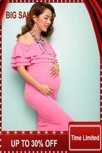 Summer Plus Size Maxi Dresses Maternity Clothing Gestante Photography Props Robe Nursing Clothes For Pregnant Women Gravida bix f21 wearable imitation pregnant women gravida simulator g176