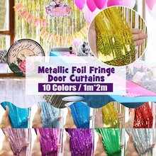 1m*2m Gold Pink Rainbow Sequin Backdrop Foil Fringe Tinsel Curtain Birthday Party Wedding Anniversary For Decoration(China)