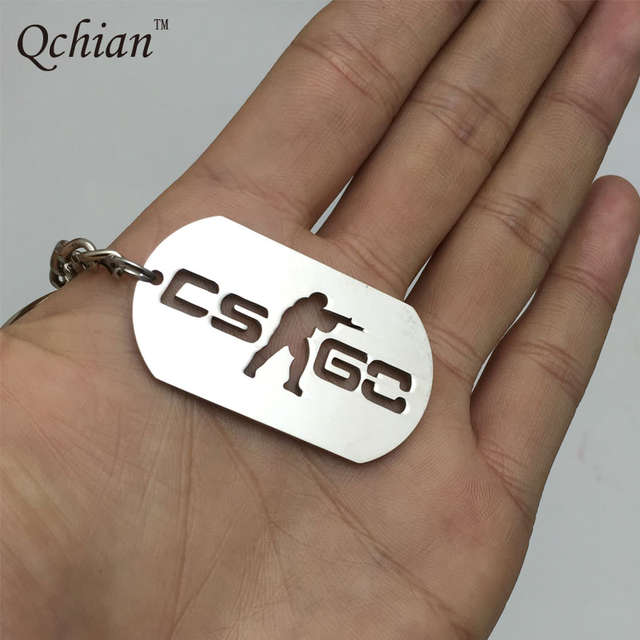Us 105 12 Offgame Half Life Csgo Keychain Keyholder Counter Strike Cs Go Key Chains Stainless Steel Men Male Keying Porte Clef Chaveiro Carro In