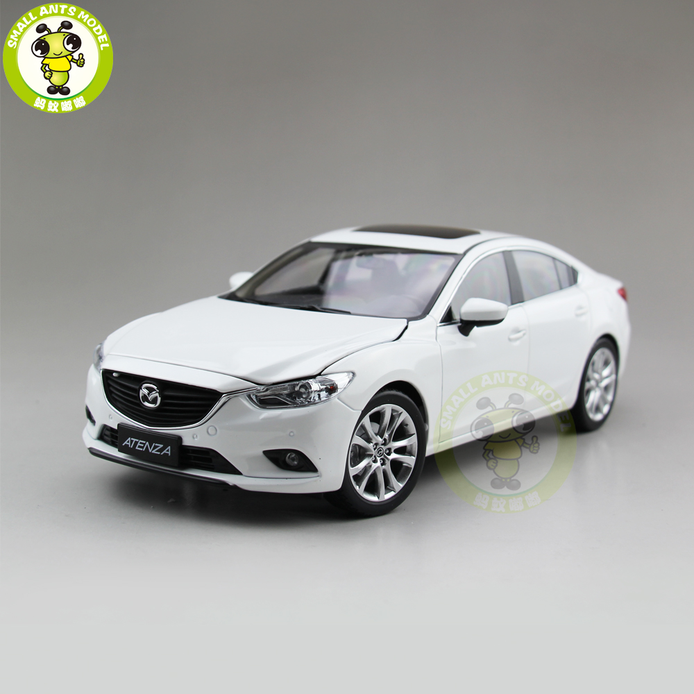 1/18 Mazda 6 ATENZA Diecast Car Model Toy for kids Boy Girl Gift Collection White