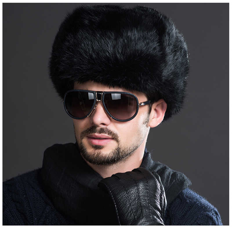 6e7f4946a IANLAN Classic Mens Winter Russian Style Ushanka Faux Rabbit Fur Hats  Thickening Earmuff Bomber Hat Unisex Middle-aged IL00381