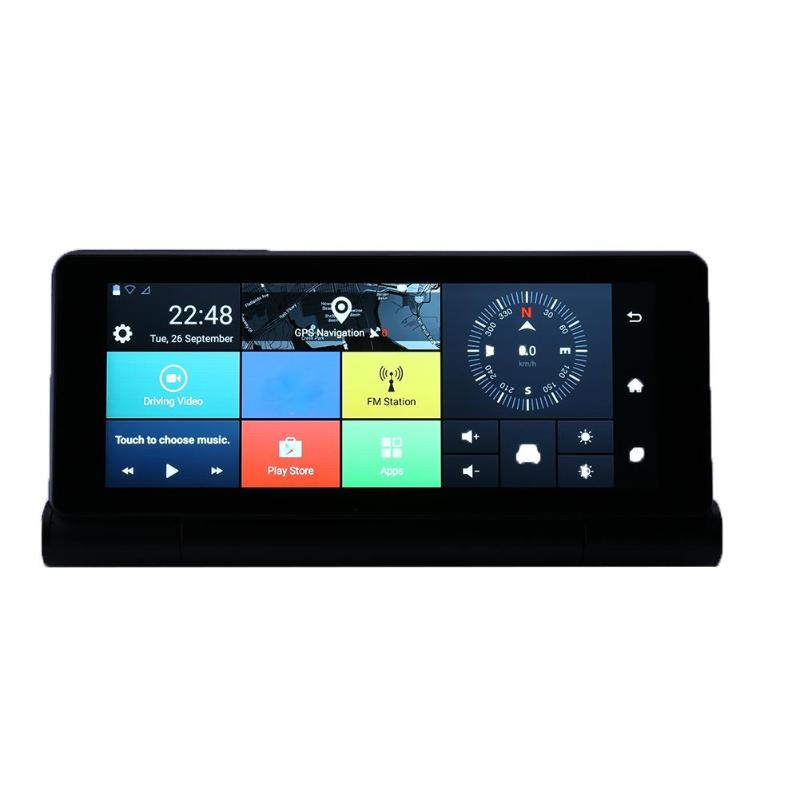 6,86 3g gps навигация Bluetooth WiFi Автомобильный видеорегистратор Камера складной авто Dashboad FHD Даш камера видеокамера опционально камера заднего ви