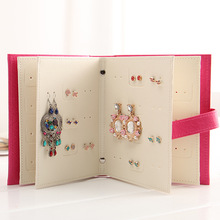PU Leather Jewelry Box Earring Book Makeup Organizers Portable Necklace Jewelry Book Display Box Organizer Accessories