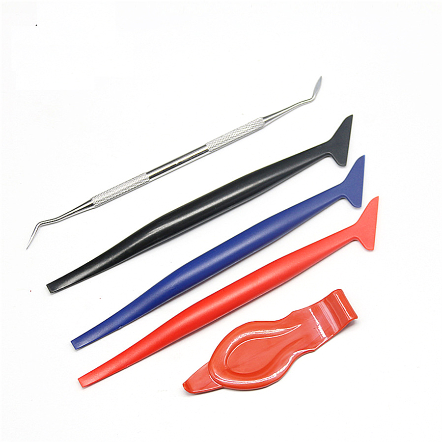 Image 2 - 5PCS Car Vinyl Wrap Tuck Tools Gasket Micro Squeegee Car Stickers Corner Decorate Scraper for Window Tint Application-in Scraper from Automobiles & Motorcycles