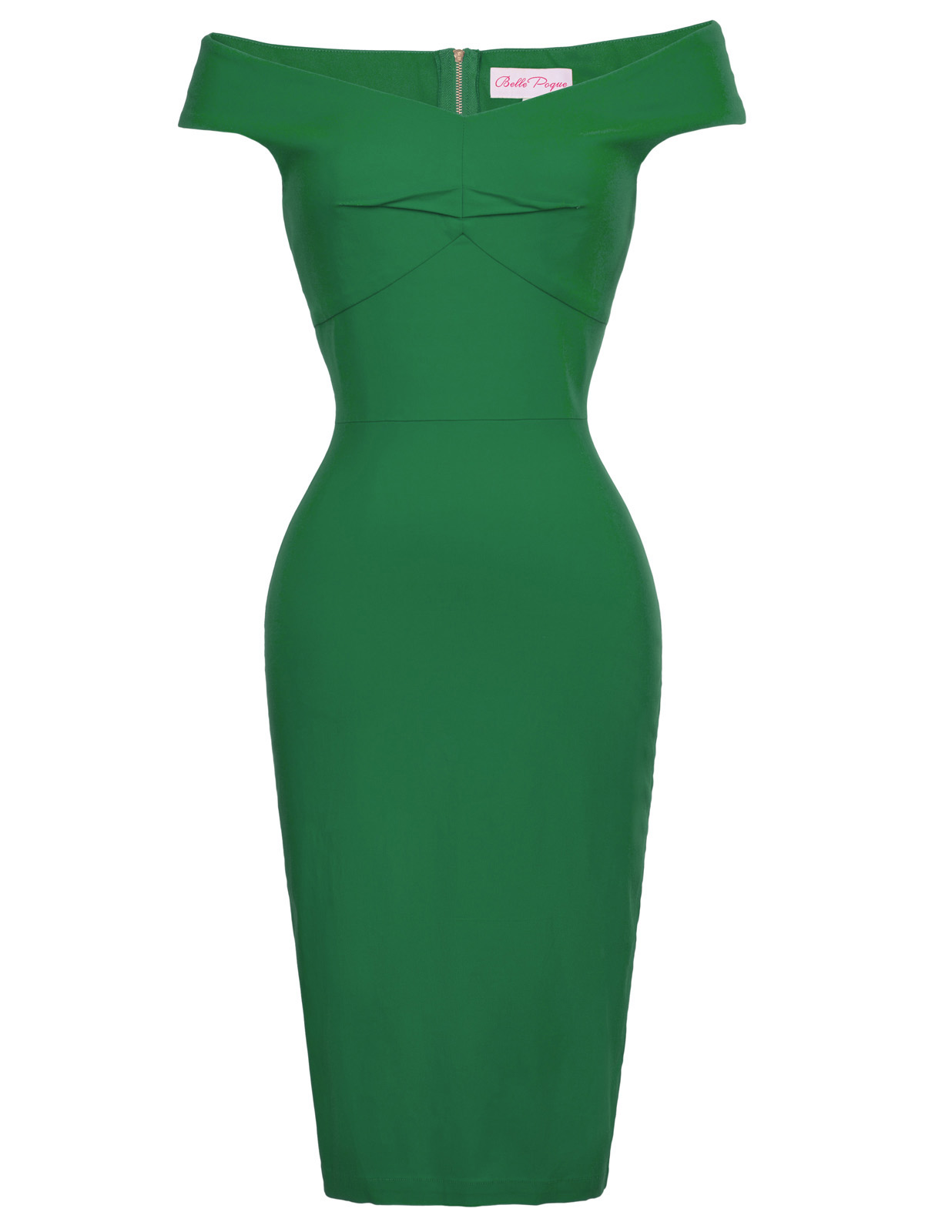 fe62a530 Red Green Sexy Women Retro Vintage Off Shoulder Hips-Wrapped Bodycon Pencil  Dress