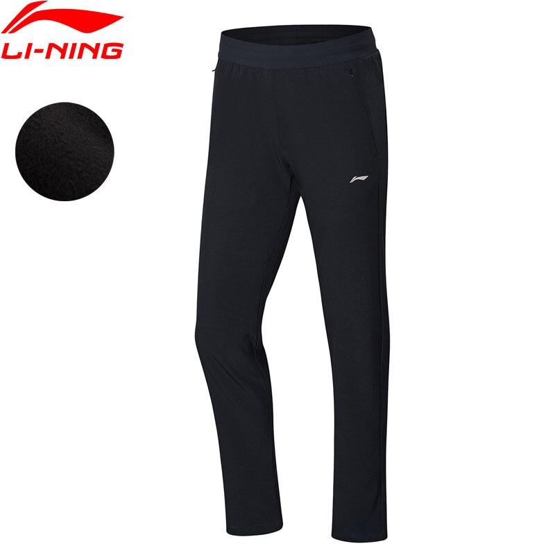 Li Ning Women Running Sweat Pants 91 1 Polyester 8 9 Spandex Fleece WARM AT LiNing