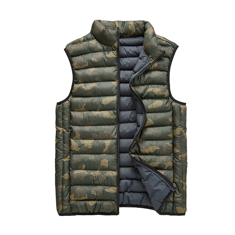 Winter Riding Mens Thermal Camouflage Waistcoat Outdoor Hunting Climbing Fishing Hiking Cycling Lightweight Warm Windproof Vest